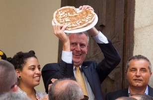 New York City Mayor Bill De Blasio Visits His Grandfather's Town And Receives Honorary Citizenship