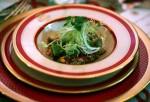 A quinoa, black bean and corn salad dish