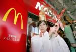 Yasaka Shrine Maidens Visit Local Businesses