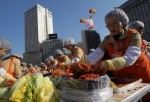 South Korean Housewives Make Kimchi For The Poor