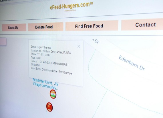Screen Shot of e-Feed-Hungers Site (IMAGE)